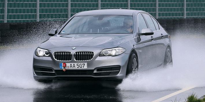 2020 Auto Bild summer tyres test on a BMW 5-Series