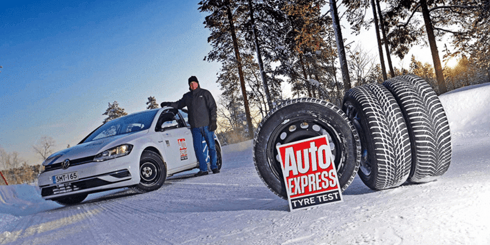 Winter tyre test: Auto Express compares tyres on the VW Golf
