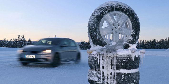 Winter tyre comparison test conducted by Auto Bild magazine