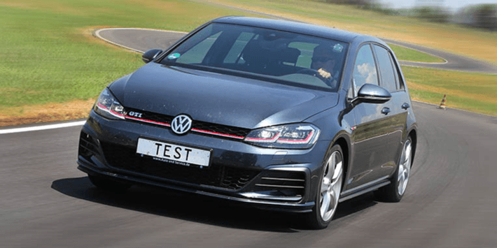 ADAC and TCS summer tyres test: Golf GTI on the track