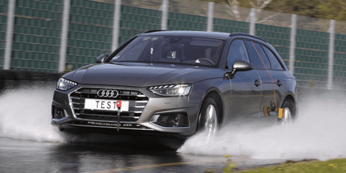 Summer tyre test: ADAC and TCS comparison for sedans and estate cars on wet roads