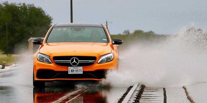 Auto Bild sports tyre test with Mercedes AMG