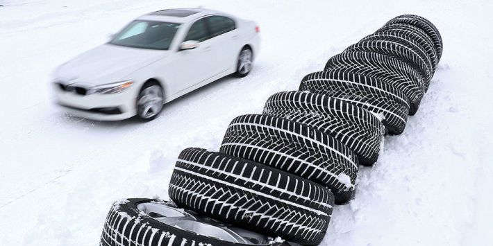 10 ultra high performance winter tyres compared by Auto Bild