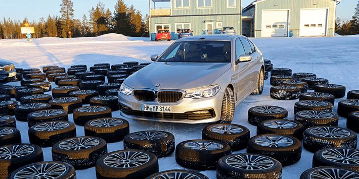 Winter tyre test: Auto Bild compares 51 winter tyres on the BMW 5-Series