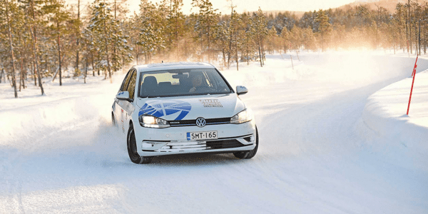 Winter tyre test: Auto Express compares tyre grip when cornering on snow