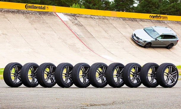 Auto Zeitung track tyre testing