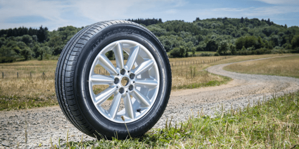 BF Goodrich Advantage tyre on a dirt road