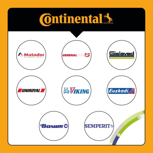 Sub brands Continental