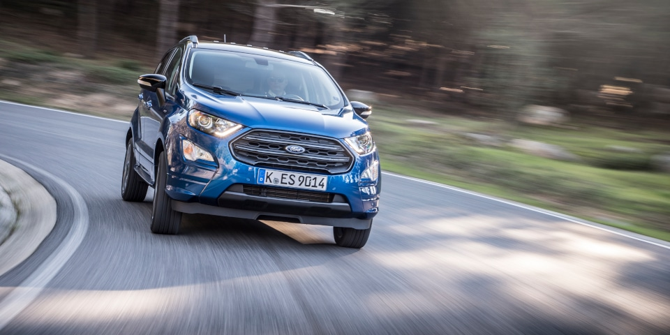 Ford ecosport on the road
