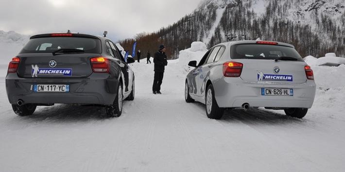 Michelin's snow test: Summer tyres versus winter tyres
