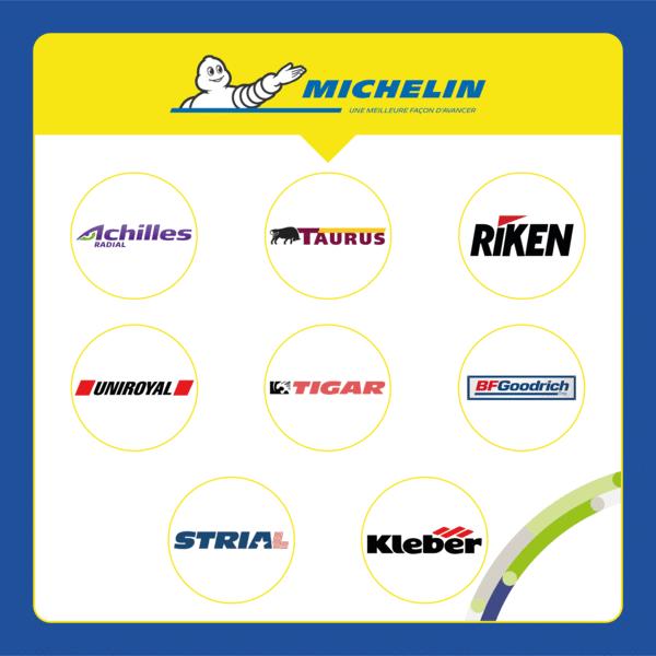 Sub brands Michelin