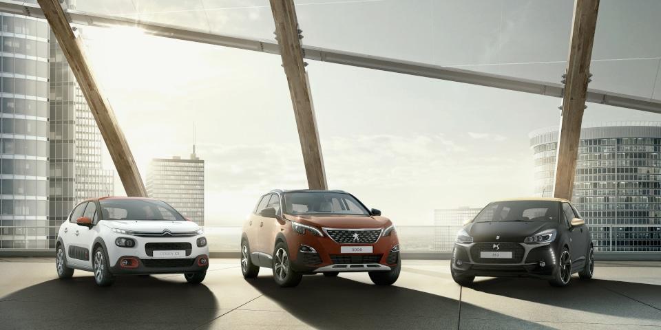 PSA showcasing its car range