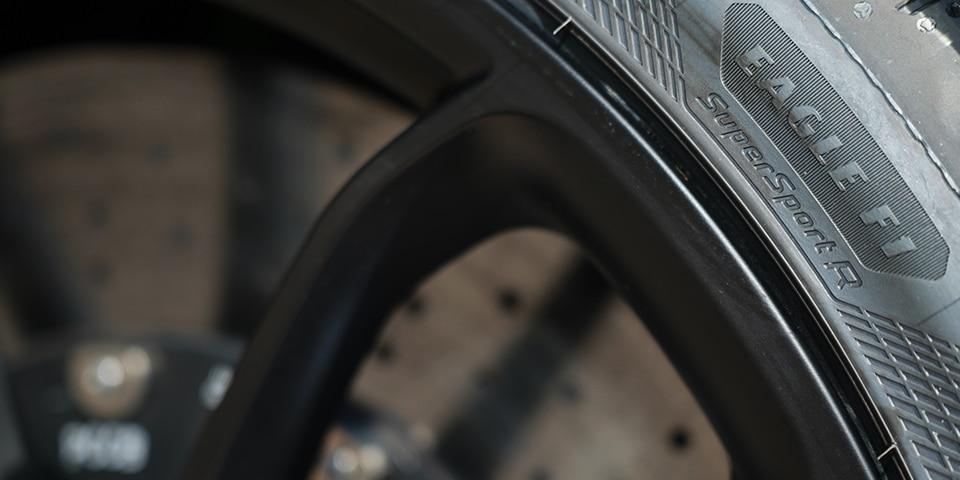 Sidewall of Goodyear Eagle F1 supersport R