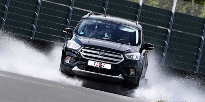 Summer tyres test for SUVs: grip in wet conditions