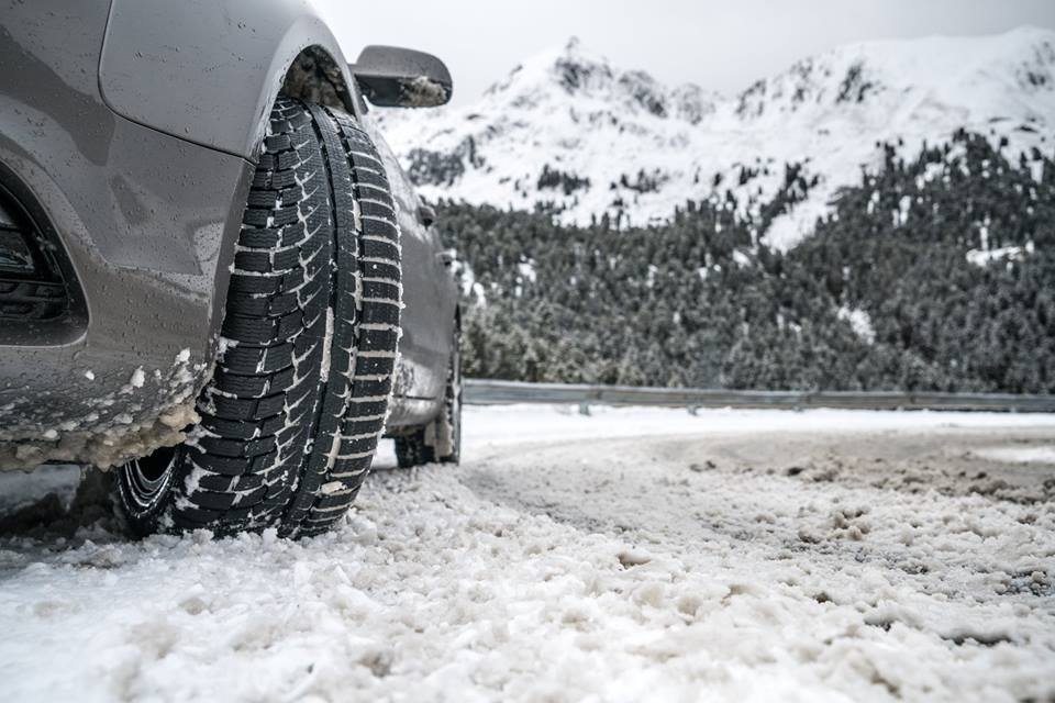 Nokian WR A4 in front of snowy mountains