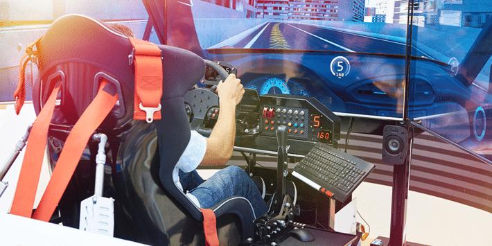 Tyre brands take to virtual tracks for driving simulator racing