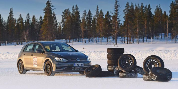 The Auto Express winter tyre test on snow