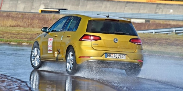 Winter tyre test on wet by Auto Express