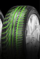 Tyre with an asymmetric tread
