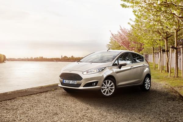 Beige Ford Fiesta