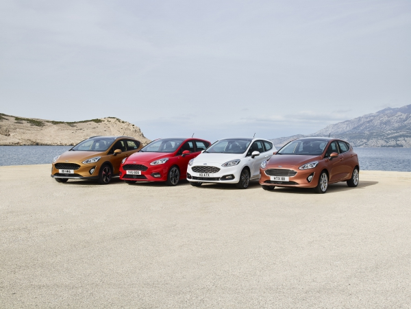 Tyres and sizes for Ford Fiesta models