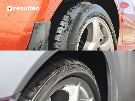tyre with and without rim protector