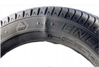 Example of hernia on sidewall of a tyre
