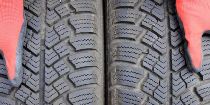 Fit tyres with different wear