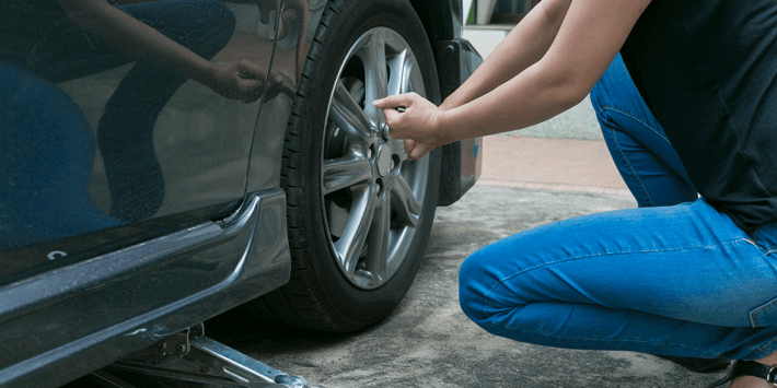 Fitting your spare wheel