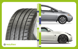 High performance tyre for powerful vehicles and sport cars