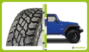 Off-road tyres for 4x4 vehicles