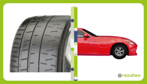 Semi-slick tyres for sport cars and track performance