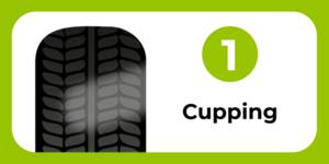 Tyre wear cupping
