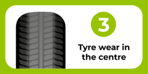 Tyre wear in the center