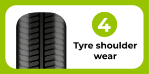Tyre shoulder wear
