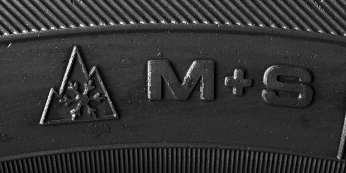 M+S winter tyre label