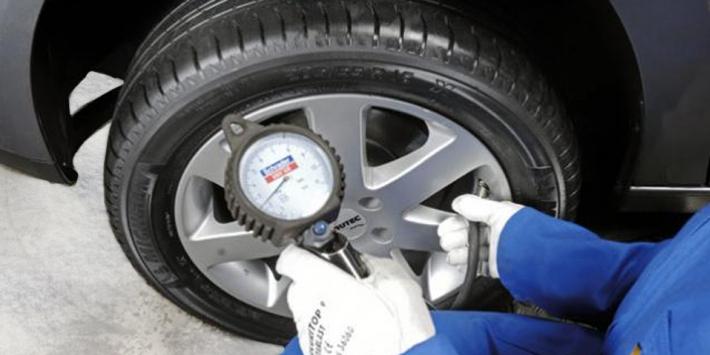 Winter tyre pressure